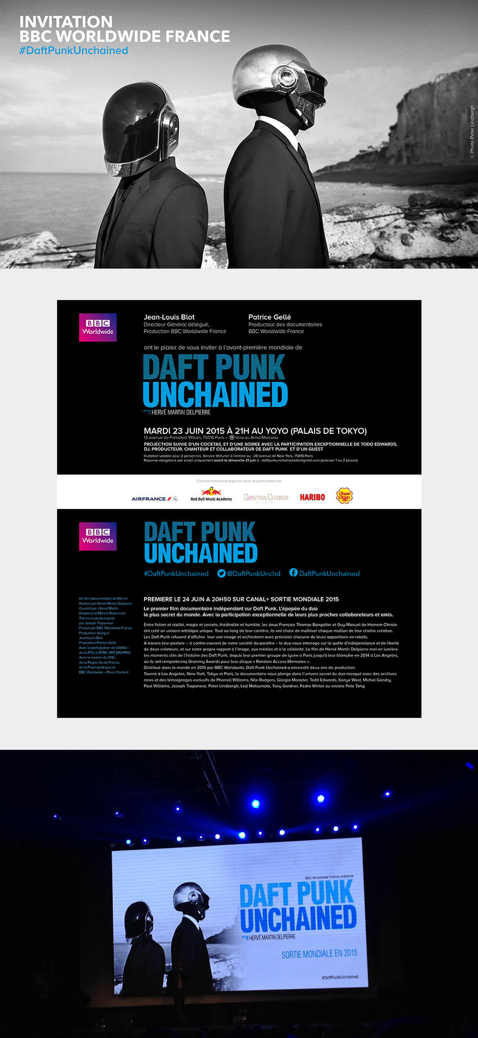 Invitation pour la projection Daft Punk Unchained